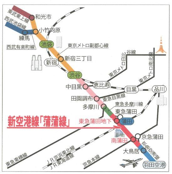 蒲蒲線路線図