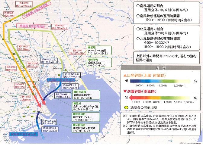 新たな飛行経路案(委員会資料より)